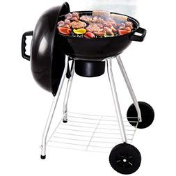Giantex Kettle Charcoal Grill w/Wheels Shelf Temperature Gau