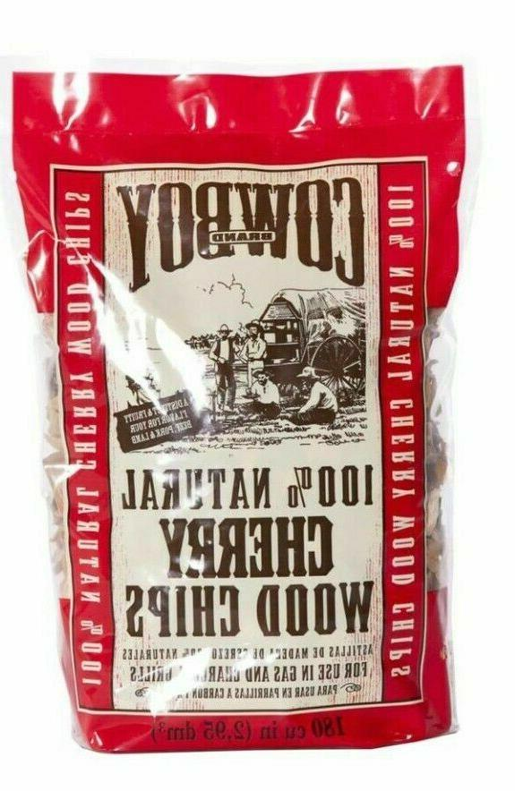 Cowboy Charcoal 100% Natural Cherry Wood Chips for Grills or