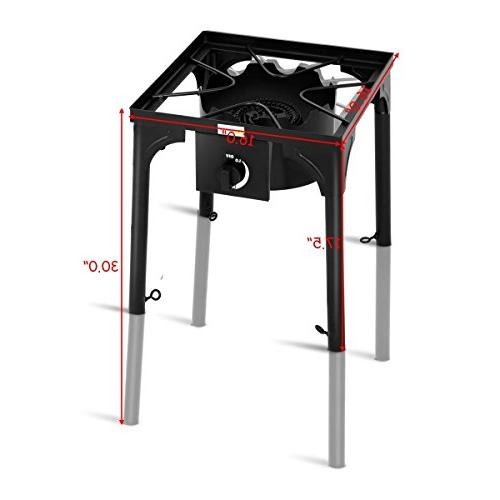COSTWAY 100,000-BTU Portable Outdoor Camp Stove w/Adjustable Legs by + Gift Ball