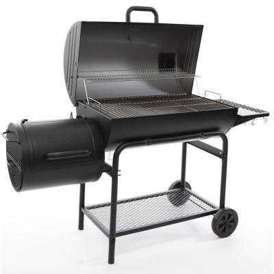 Char-Griller 1624 Smokin' Charcoal Grill Horizontal Smoker in