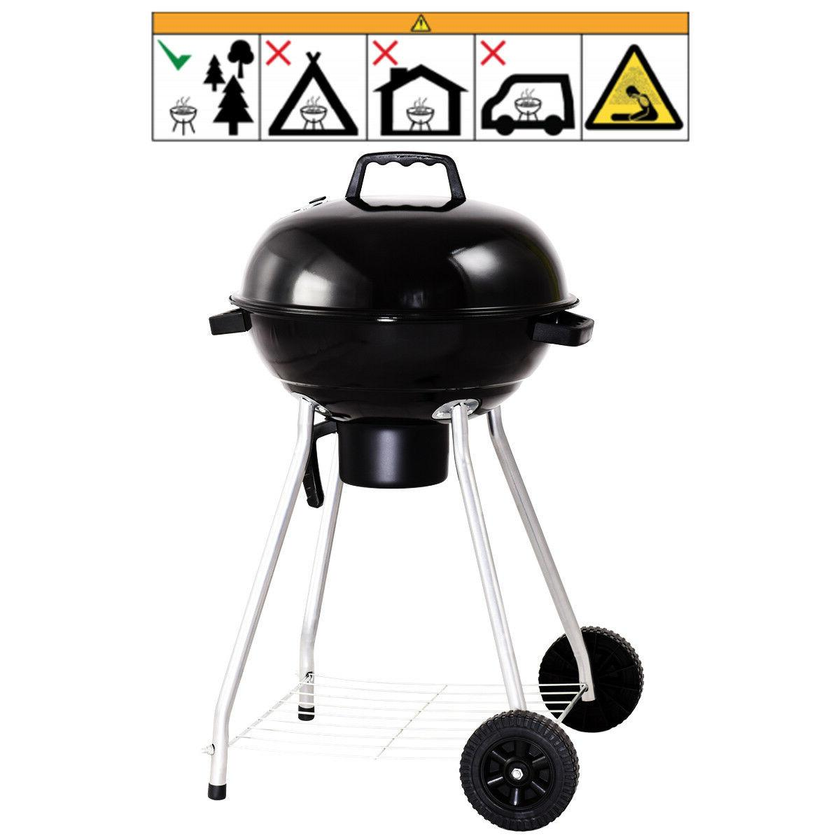 18.5-Inch Charcoal Grill BBQ Outdoor Backyard Cooking with
