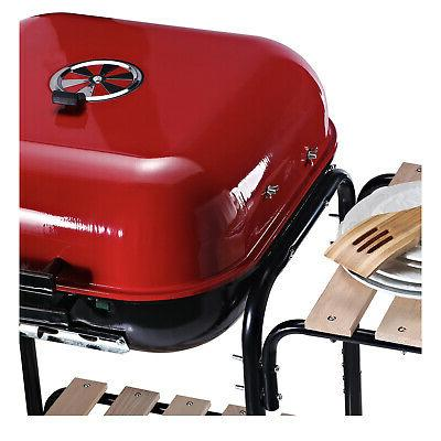 """19"""" Porcelain Outdoor Charcoal Barbecue Grill"""