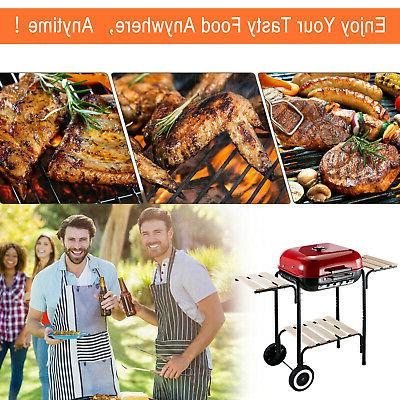 """19"""" Porcelain Outdoor Charcoal Barbeque Grill"""