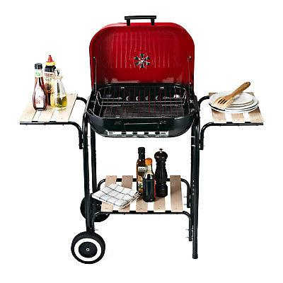 """19"""" Steel Porcelain Outdoor Charcoal Grill"""