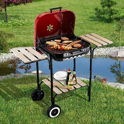 19 steel porcelain portable outdoor charcoal barbecue