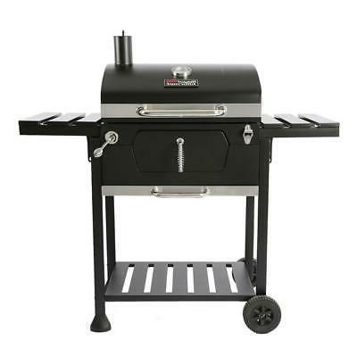 23 in charcoal bbq grill in black
