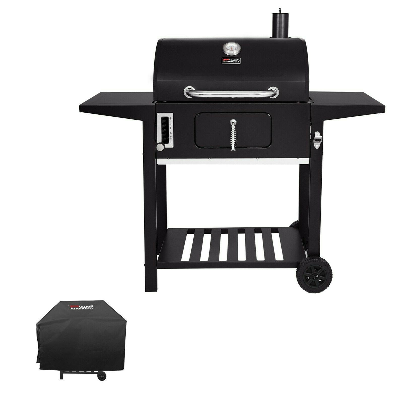 24 bbq charcoal side table grill