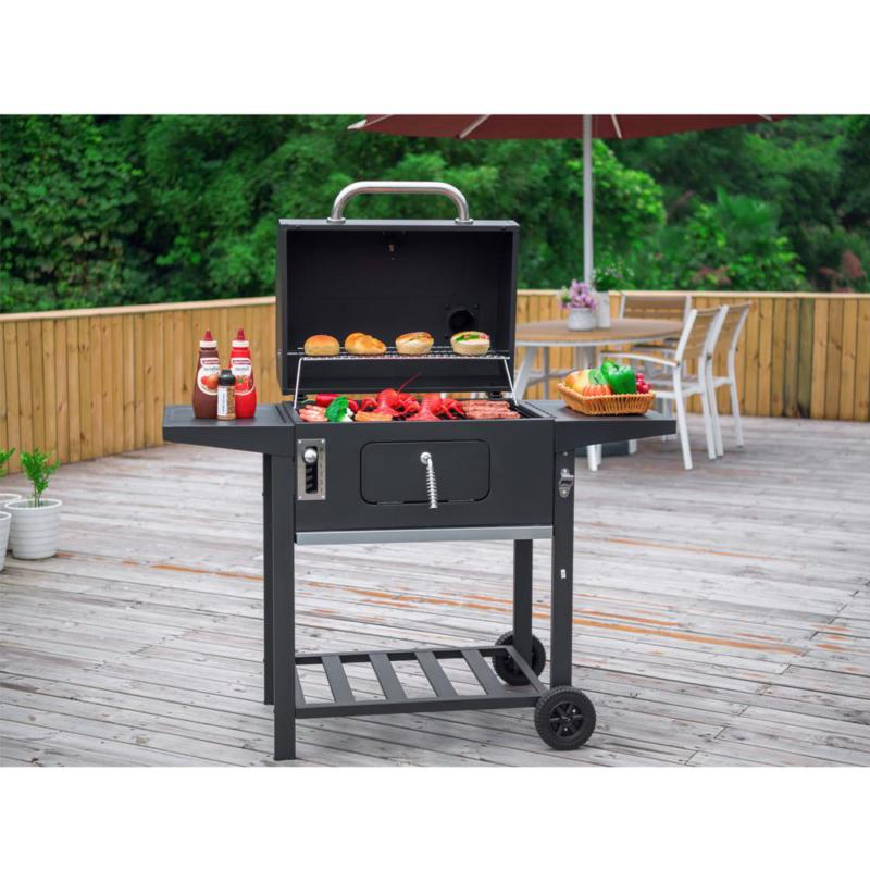 24 In. Bbq Grill In 2-Side Table