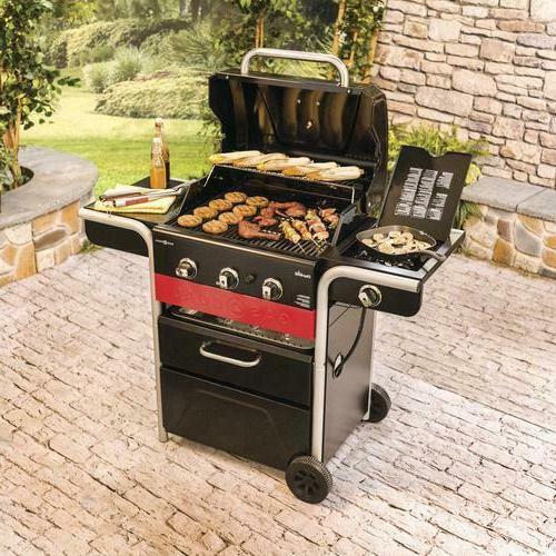 Char-Broil Gas 2 Coal 3-Burner Hybrid BBQ Grill