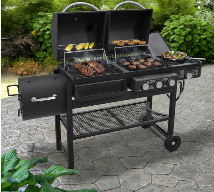 3 burner propane gas charcoal