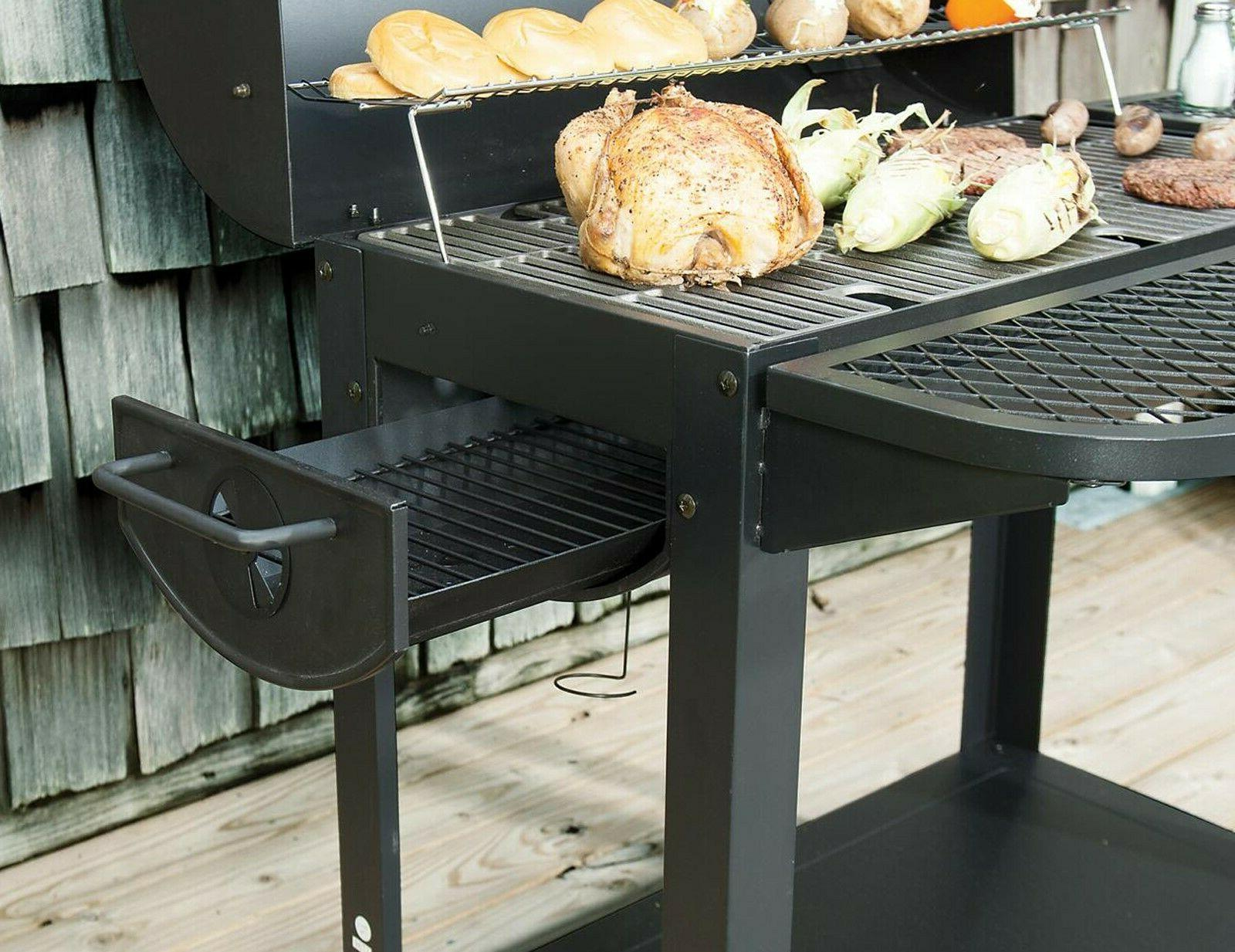 """35"""" Barrel Grill Outdoor BBQ Cooking Wheeled"""