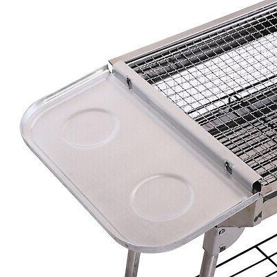 "41"" x 13"" Stainless Steel Portable Barbecue BBQ"