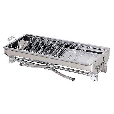 "41"" Stainless Steel Folding Charcoal Barbecue Grill"