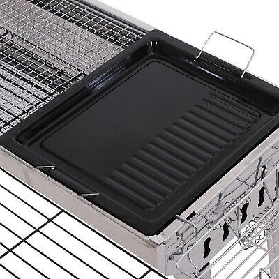 """41"""" x Steel Folding Portable Charcoal Barbecue"""