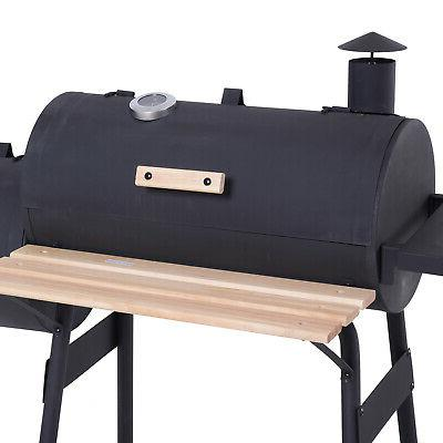 """Outsunny 48"""" Steel Backyard BBQ and Offset Smoker Combo"""