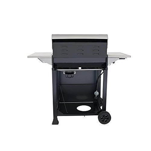 5-Burner Propane in Side Burner Black Cabinet