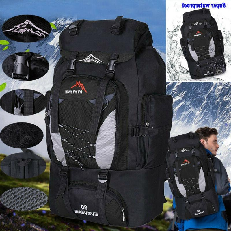 80L Outdoor Camping Hiking Backpack Bags