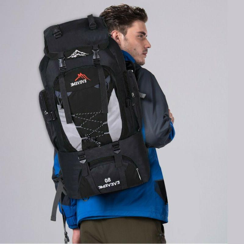 80L Outdoor Waterproof Hiking Backpack Bags Travel