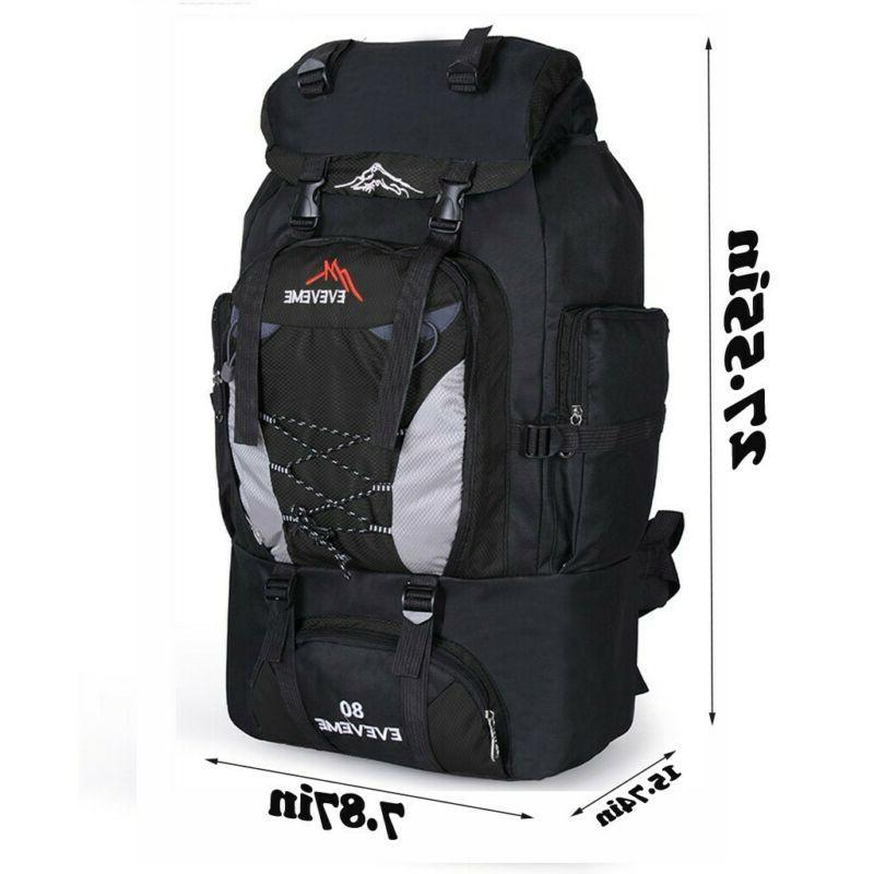 80L Waterproof Camping Hiking Bags Travel