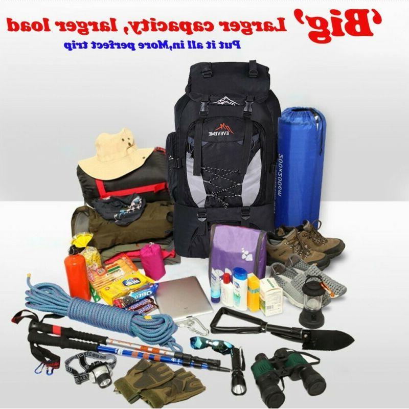 80L Outdoor Waterproof Hiking Backpack Bags
