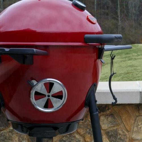 Char-Griller Easy-to-Clean Charcoal Red