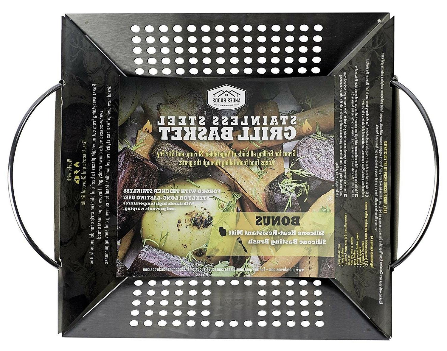 andes broos grill basket for gas or