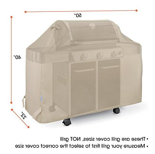 SunPatio Cover Inch, Outdoor Cover, Protection for Nexgrill and More, Beige
