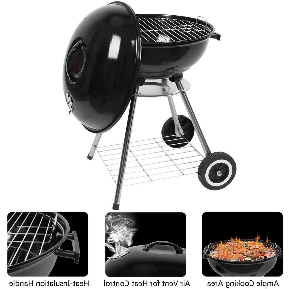 Barbecue Outdoor Portable Charcoal Grill Stainless Steel Sto