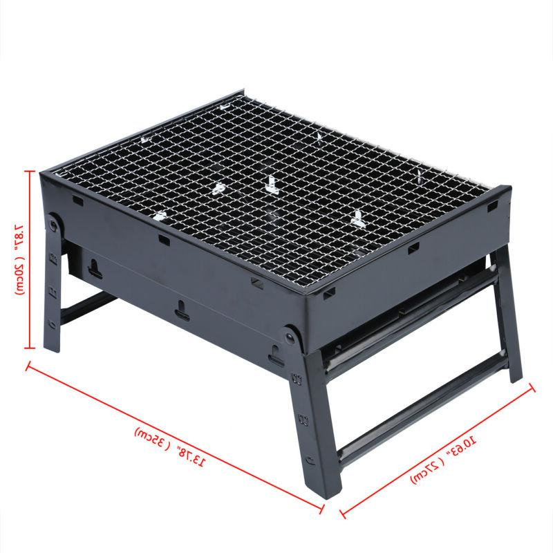 New Fold Charcoal Camping Garden Outdoor Party Black