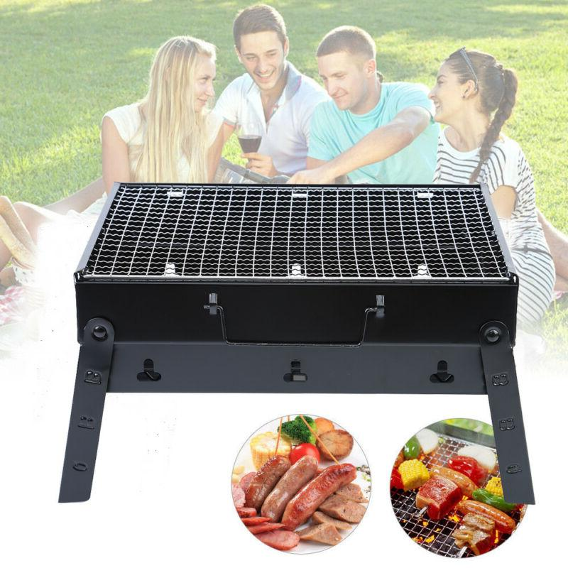 New BBQ Barbecue Fold Garden Party Black