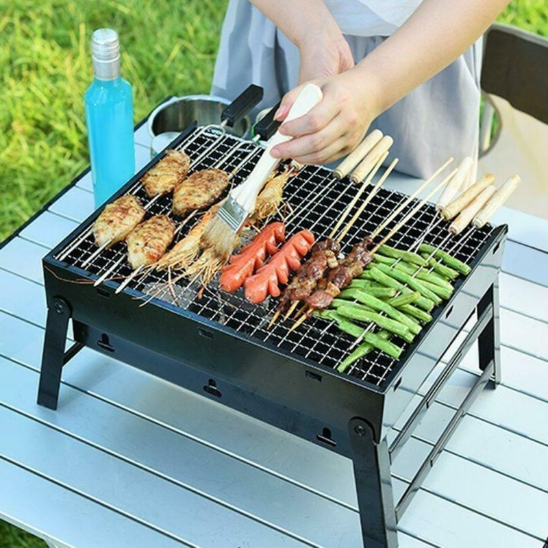 new bbq barbecue grill fold portable charcoal