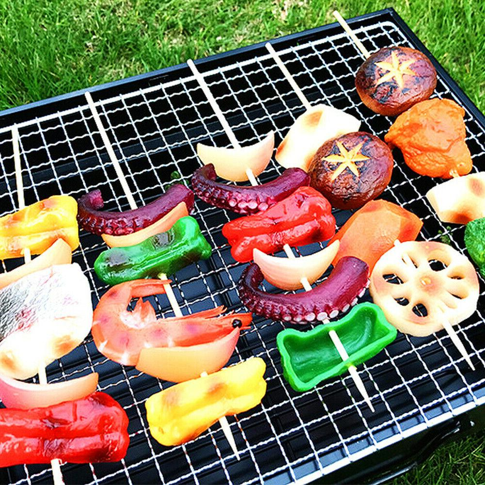 BBQ Barbecue Portable Charcoal Kabob Camping Outdoor