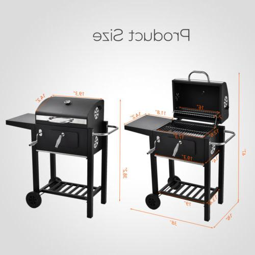 BBQ Charcoal Backyard Barbecue Cooking Portable Wheels
