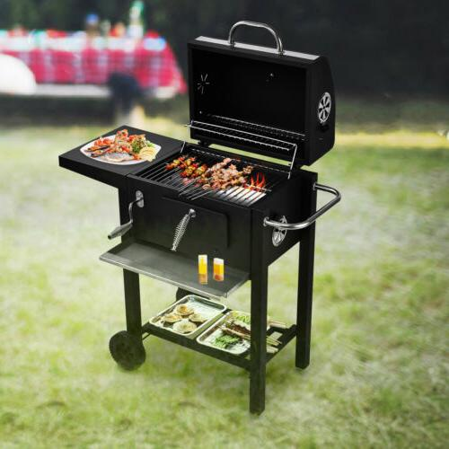 BBQ Grill Barbecue Outdoor Patio Portable Wheels