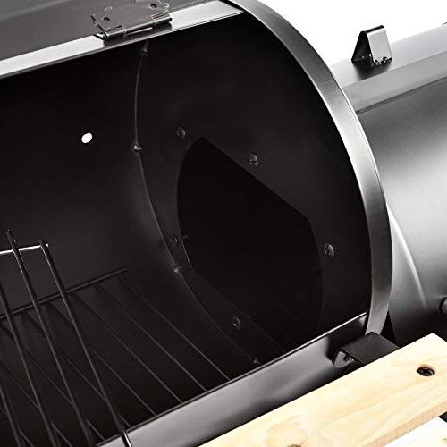 mecor Offset Smoker Barbecue Backyard with and Smoker( Black)