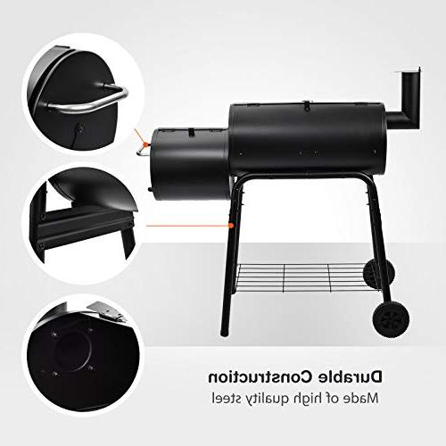 mecor BBQ Offset Smoker Backyard with Smoker(