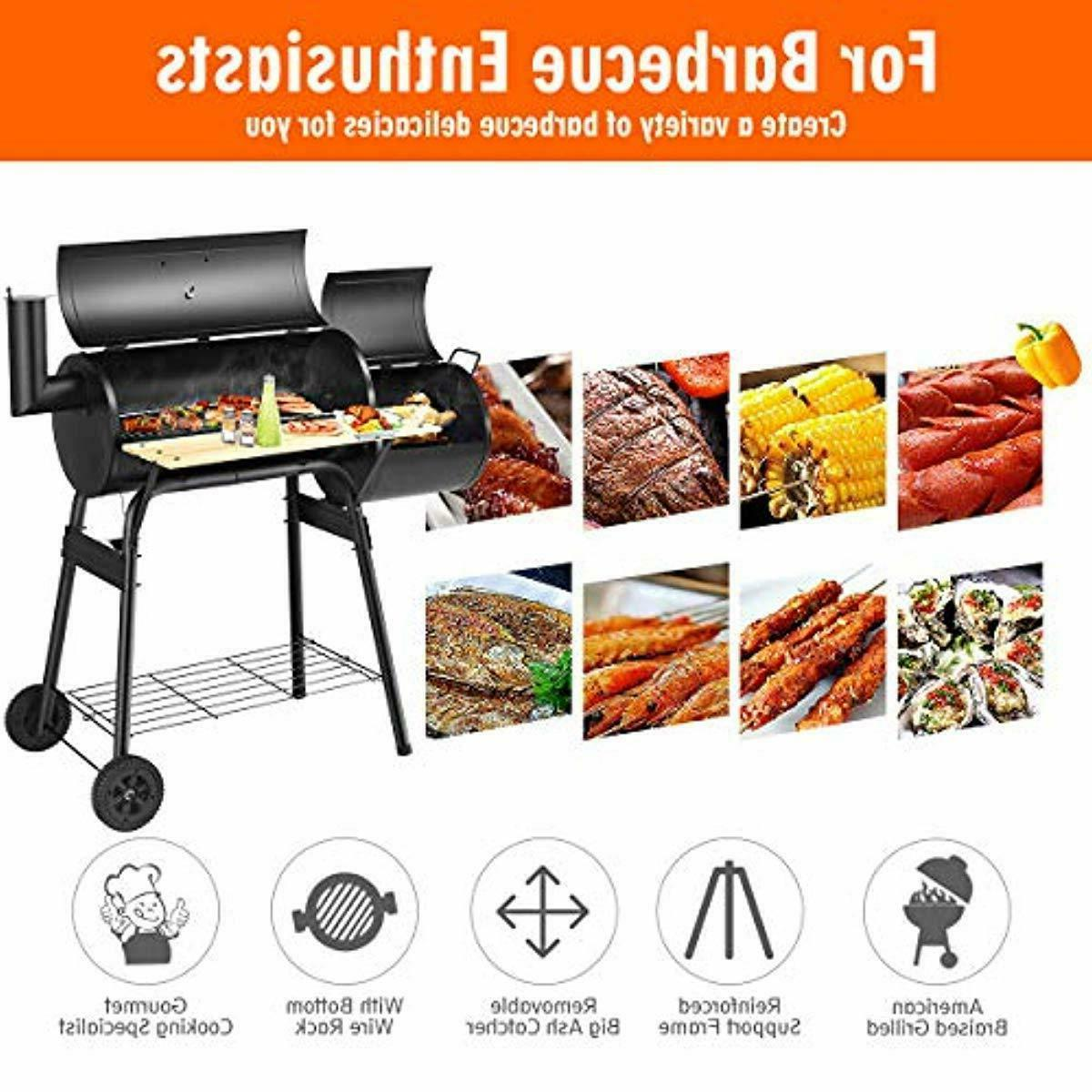 Giantex BBQ Grill Barbecue Grill Patio C