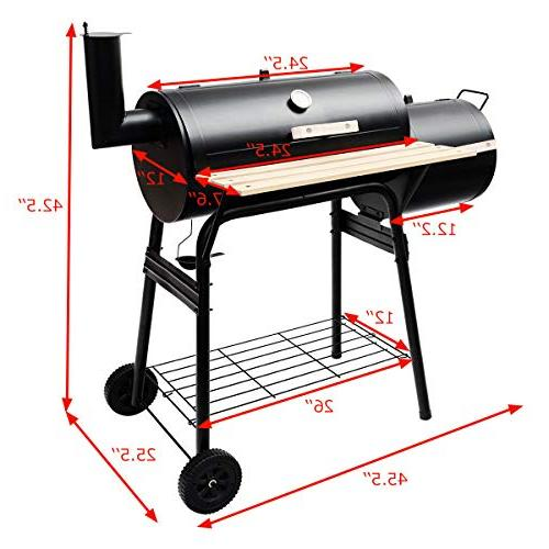Giantex Grill Barbecue Grill Patio Backyard Home Cooker with Smoker
