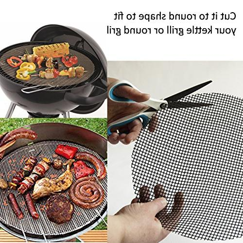 BBQ Grill Non Barbecue Grill Sheet Liners Mats Smoking - on Charcoal
