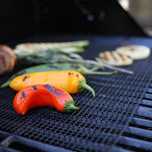 BBQ Grill Mesh Set Non Barbecue Sheet Mats Fish Vegetable Smoking on Smoker,Pellet,Gas, Charcoal
