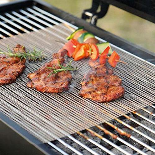 BBQ Set Non Stick Sheet Teflon Mats Fish Vegetable Smoking Accessories - on Smoker,Pellet,Gas, Charcoal