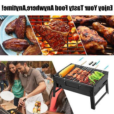 BBQ Stove Barbecue Grill Foldable Portable Charcoal Camping