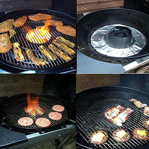 Dracarys BBQ 22 Grill Steel Whirlpool Accessories Weber Kettle WSM Egg Kamado Joe
