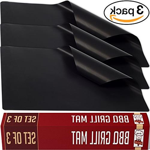 Black Twisted Chef Grill Stick Mats Grilling