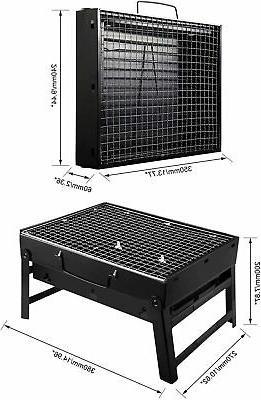 black portable charcoal grill heavy duty 20