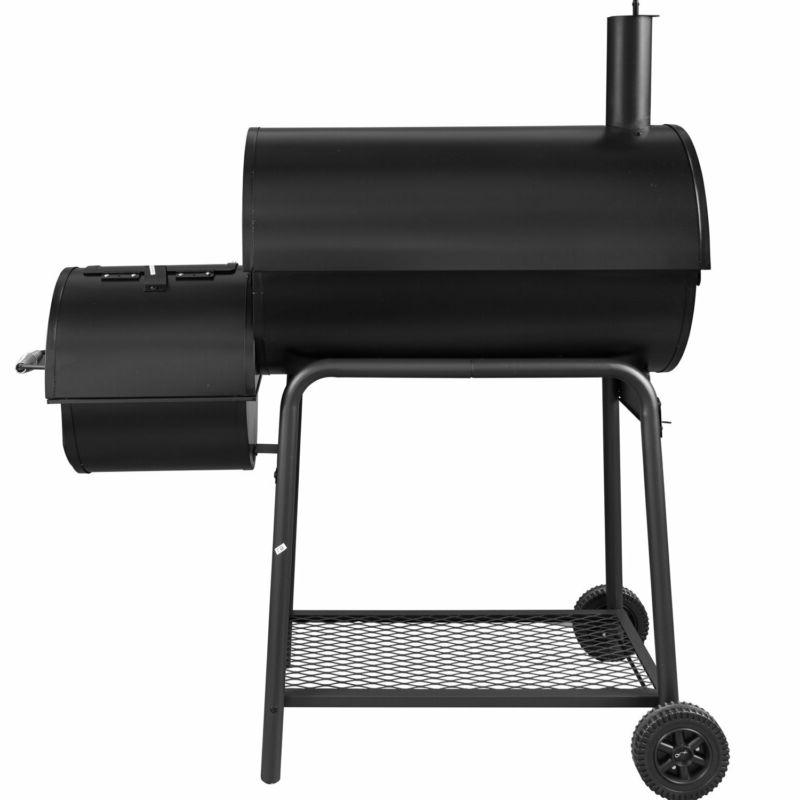 Royal CC1830S Charcoal Grill Offset Smoker, Black Inch Fast Ship