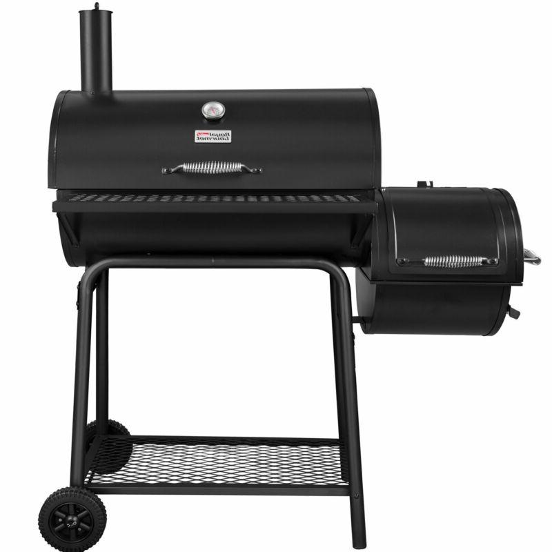 cc1830s charcoal grill with offset smoker black