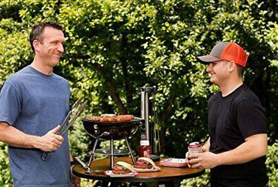 Outdoor Pit Backyard Meat Cooker gauge