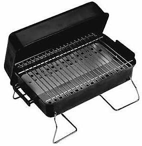 Black Portable Charcoal Grill Heavy Duty 20 Inch Steel Const