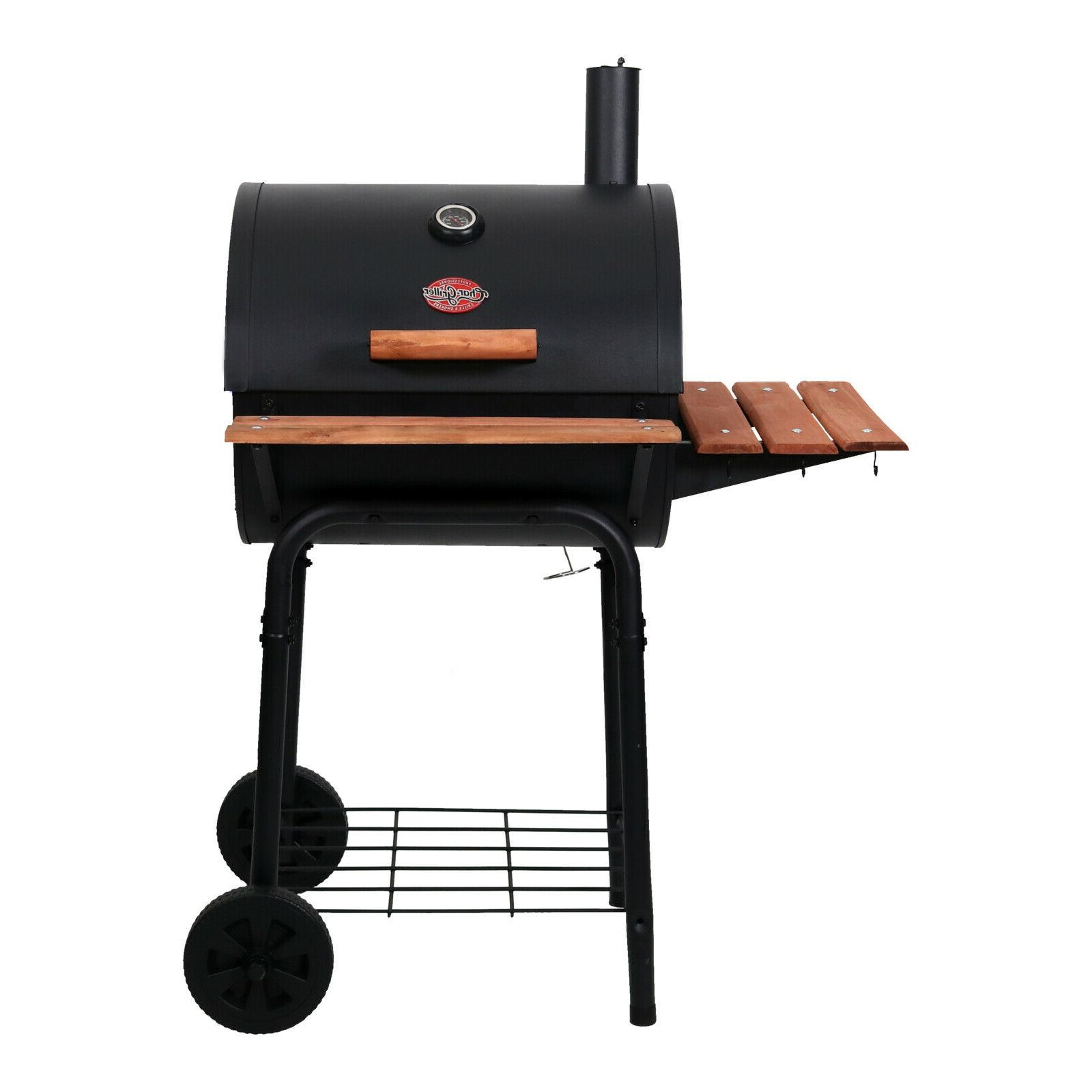 char griller 435 square inch wrangler charcoal